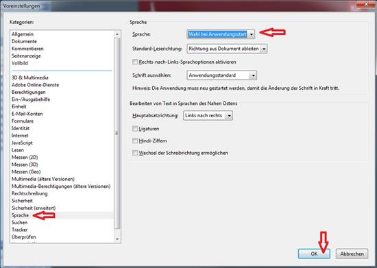 Screenshot Adobe Reader