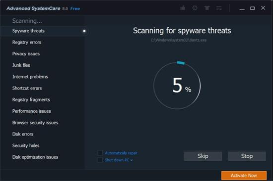 Screenshot Advanced SystemCare Free