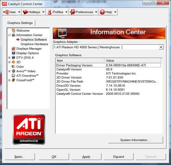 ati catalyst control center software free download