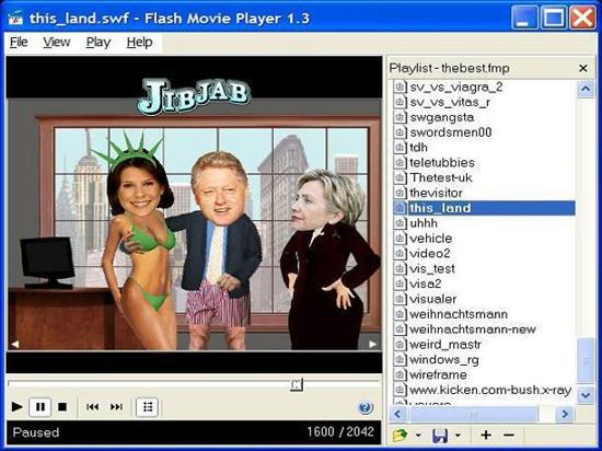 Screenshot Flash Movie Player