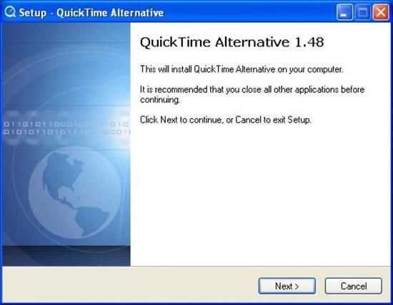 Screenshot QuickTime