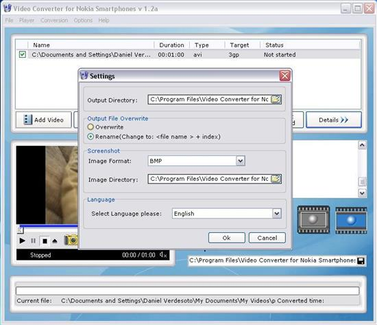 Screenshot Video Converter for Nokia Smartphones