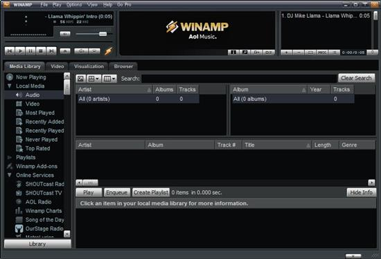 Screenshot Winamp