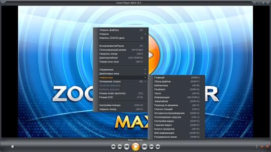Screenshot Zoom Player Home Max